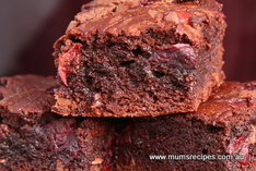 Chocolate and Cherries Brownies