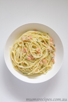 Smoked Salmon and Zucchini Pasta