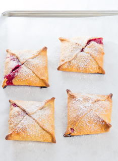 Raspberry and Coconut Easy Tarts